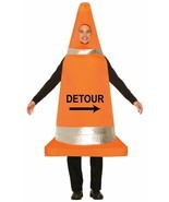 Forum Novelties Traffic Cone Construction Adult Mens Halloween Costume 7... - $39.99