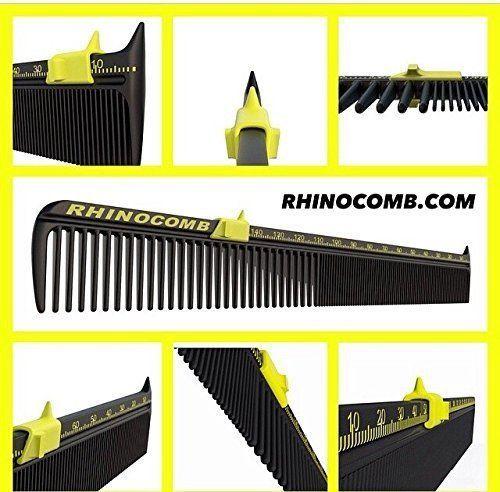 High-Quality Barber Shop Salon Grade Precision Rhinocomb  w/FREE Flat Top Comb