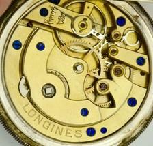 UNIQUE antique Longines silver pocket watch.Fancy enamel Ottoman dial - $1,790.00