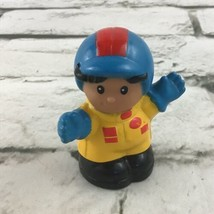 Vintage 1999 Fisher Price Little People Race Car Driver Figure Toy By Ma... - $7.91