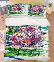 3D Color Tiger 1 Bed Pillowcases Quilt Duvet Cover Set Single Queen King Size AU - $64.32+