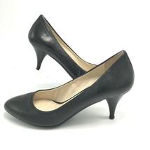 PRADA Black Kitten Leather Heels Size 34.5 Euro 4.5 US Classic Pump - £221.71 GBP