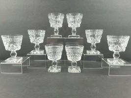 """8 Colony Park Lane Clear 3 7/8"""" Liquor Cocktail Glass Set Vintage Indian... - $45.41"""