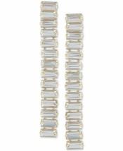 GUESS Baguette-Crystal Linear Drop Earrings - $16.00