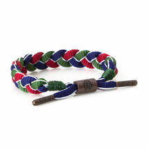 Rastaclat Magellan Green Red Blue Shoelace Braided Shoelace Bracelet NEW image 3
