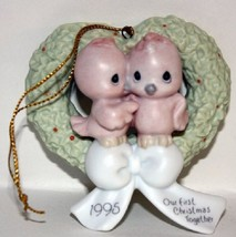 Our First Christmas Together Dated 1995 Precious Moments Ornament #142700 - $8.90