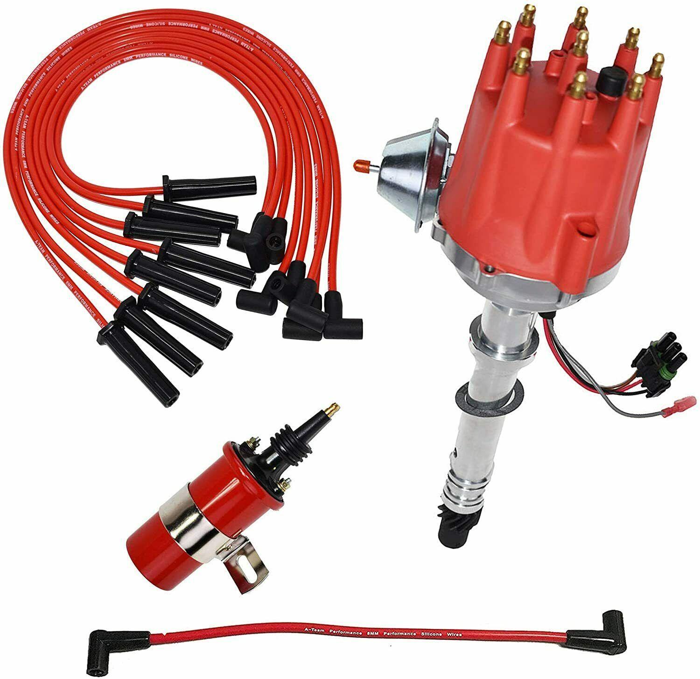 Chevy GMC SBC BBC Pro Series R2R Distributor 327 350 396 454 8mm Spark Plug Kit