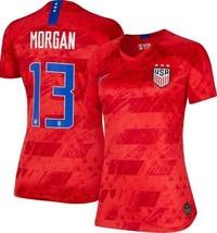 NEW Team USA #13 Alex Morgan Stadium Soccer Jersey Red Women's Size XL - $39.59