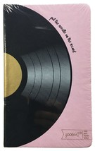"""Yoobi Pink Journal - 5.2"""" x 8.5"""" - 80 lined sheets - Vinyl Record - NEW sealed"""