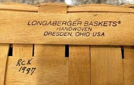Longaberger Basket 1997 Collectors Club Edition Braided Leather Handles NEW image 8