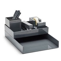 Poppin All Set! Desk Collection, Dark Gray - €42,38 EUR