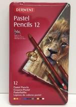 (New) Derwent 12 Pastel Pencil Metal Tin Set - $18.80