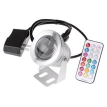 1000LM 10W RGB LED Underwater Fountain Light Spotlight Timing Pool Pond ... - €18,16 EUR