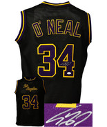 Shaquille O'Neal signed Los Angeles Custom Stitched Black Pro Basketball... - $182.95