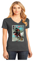 Cyberforce Hunter Killer District Made Ladies V-Neck T-Shirt Size XS To 4XL - $19.99+