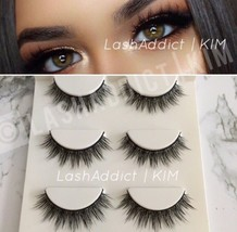 3 Pairs Natural Mink Lashes Eyelashes Makeup 3D Fur New Wsp • USA SELLER - $8.98