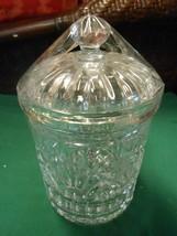Beautiful Crystal BISCUIT JAR - $15.43