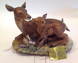 Deer Family Doe & Baby Masterpiece by Homco Porcelain - $39.99