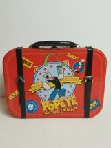 Rare 2002 Popeye The Sailor Man Tin Tote Lunchbox Olive Oyl Double Sided  - $39.19