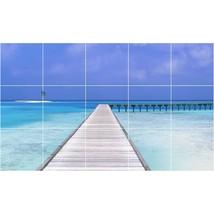 Beach Photo Tile Murals BZ30003. Kitchen Backsplash Bathroom Shower Wall Murals - $150.00+