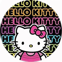 Hello Kitty Tween Neon Birthday Party Lunch Dinner Plates 8 Per Package NEW - $5.45