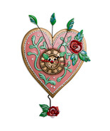 "Allen Designs ""Love Blooms"" Whimsical Heart Pendulum Wall Clock - $59.95"