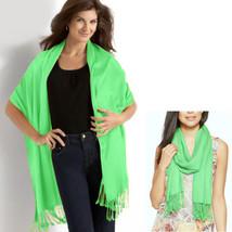 New INC International Concepts Smooth Rayon Satin Pashmina Wrap Scarf Mi... - €11,93 EUR