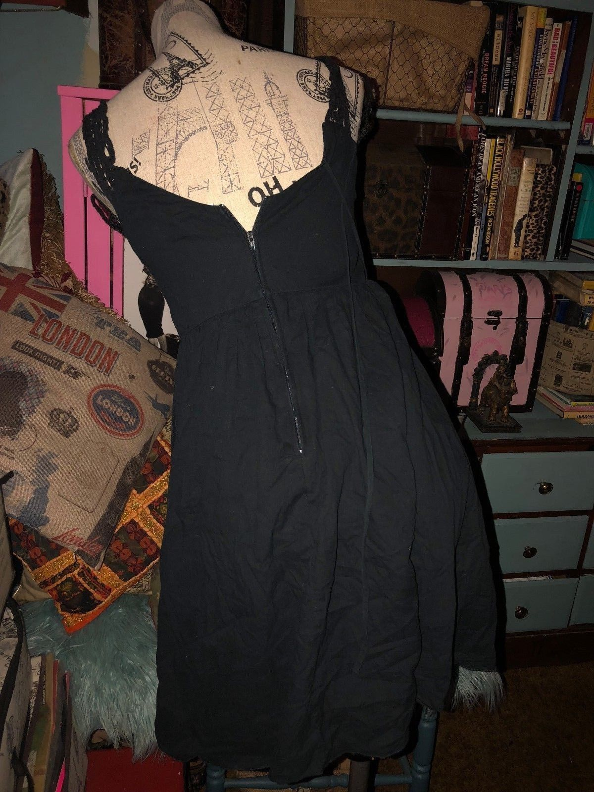 JFW Just For Wraps Sweet Midnight Black Sun Dress Size 7 image 3