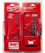 Milwaukee 48-89-2800 14 Piece Thunderbolt Black Oxide Twist Drill Bit Set - $9.41