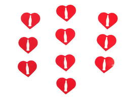 Coca-Cola Set of 10 Heart Shaped Contour Bottle Stickers- BRAND NEW - $2.97