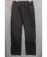 NEW Men's Levi's 505 Regular Straight Fit Jeans Black MADE IN USA  34 x 30 - $34.94