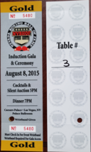 2 Nevada Boxing Hall of Fame Aug 8 2015 Caesars Palace Ticket Stubs - $24.95