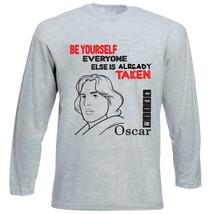 Oscar Wilde Be Yourelf 1 - New Cotton Grey Tshirt - $27.99