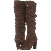 Franco Sarto Artesia Pointed Toe Slouch Knee High Boots 220, Light Brown Suede, - $63.35