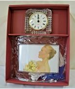 Cristal d'Arques Glass Lead Crystal Petals 2pc Set Picture Frame & Clock - $27.71