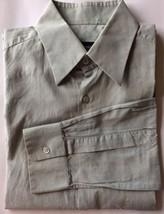 Hugo Boss Men Dress Shirt Miss Green 15 38 Long Sleeve 100% Cotton Spread Collar - $22.00