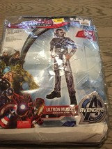 Marvel Avengers Ultron Muscle Child's Large 12-14 Costume Missing Mask - $12.59