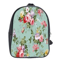 Backpack School Bag Beautiful Rose Flowers Nature Editions Game Animation Fantas - $33.00