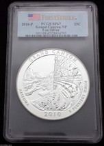 2010 PCGS First Strike Grand Canyon ATB NP 5 Ounce Silver Coin SP67 Lot BB 29
