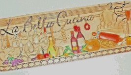 La Bella Cucina Bistro Chef Cafe Diner Decorative Wine Wall Plaque Colle... - $21.00