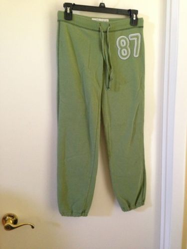 Aeropostale Green Cotton Blend 87 Sweat Pants Drawstring Waist XXS