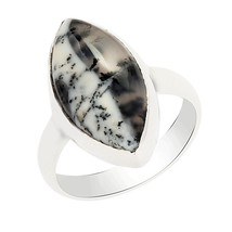 Dendrite Opal Handmade 925 Sterling Silver Jewelry Ring Sz 6 SHRI0293 - £16.83 GBP