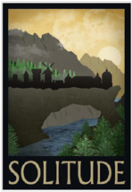 Elder Scrolls Solitude Travel Poster - $39.00