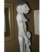 Rare Asmat Art Hand carved 5 ft+ Totem Pole Cannibal Head Hunter Idol Ir... - $1,895.25