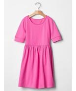 New Gap Kids Girl Pink Shirred Short Banded Sleeve Knit Cotton Babydoll Dress 10 - $19.99