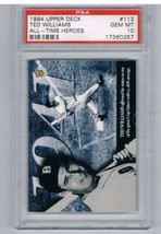 1994 All Time Heroes 125th Anniversary #113 Ted Williams PSA 10  - $49.45