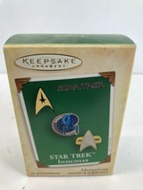 Hallmark Keepsake  Ornament Star Trek Insignias 2004 3 Ornaments - $14.80