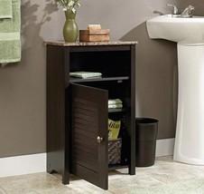 Wood Bathroom Floor Cabinet Storage Shelf Granite Cherry Furniture Towel... - $78.00