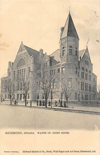 Primary image for Wayne County Court House Richmond Indiana 1906 Tuck delayed delivery postcard