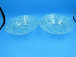 "Vintage Beaded Clear Glass Decorative Serving Bowls 10.5"" - Set of 2 - $34.95"